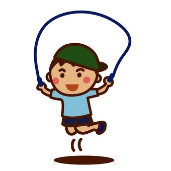 A boy who jumps rope