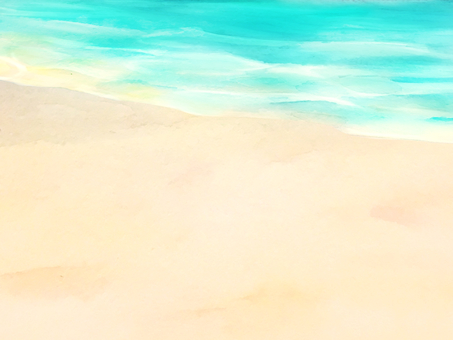 Watercolor hand-drawn sea background material 2