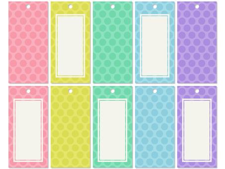 Strip bookmark Tanabata polka dot pastel color