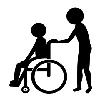Pictogram wheelchair assistance black