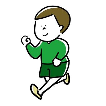 Running boy (color)
