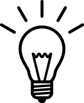燈泡_線條圖___黑白