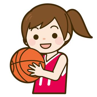 バスケットボールを持った女の子