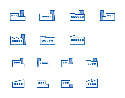 Factory set blue