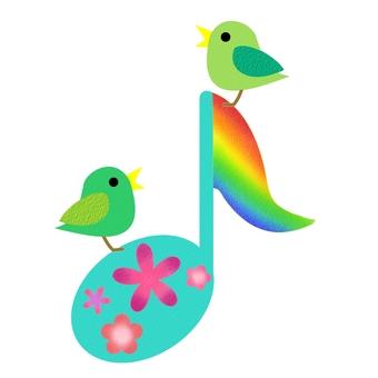 音符和小鸟