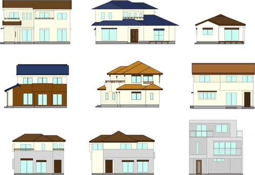 House illustration set