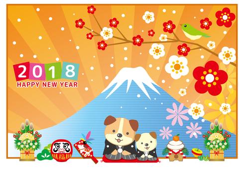 Festival New Year's card 2018 Mt. Fuji