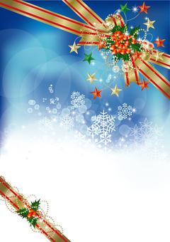 Snow Crystals & Ribbon 26