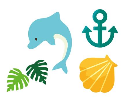 Summer sea motif set