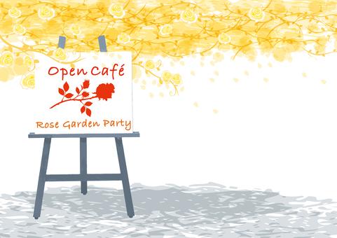 Rose Garden Open Cafe Yellow Rose