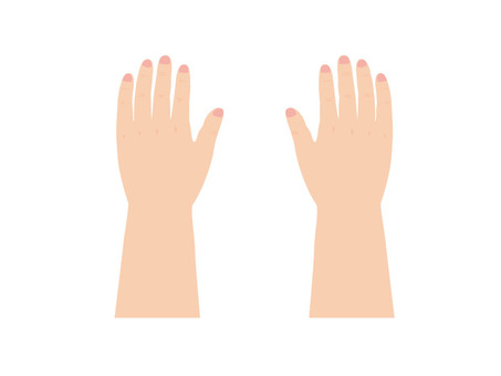 Child's hand (instep)