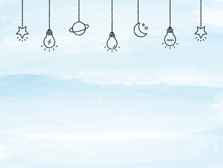 Background Watercolor Touch Light Bulb Deco Blue