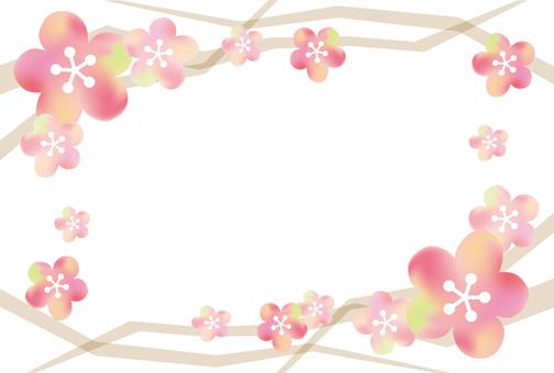 Plum blossom / frame