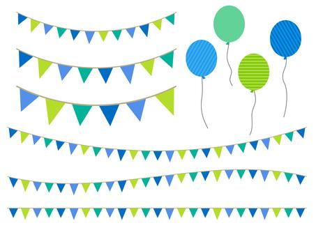 124. Flag, balloon, 1
