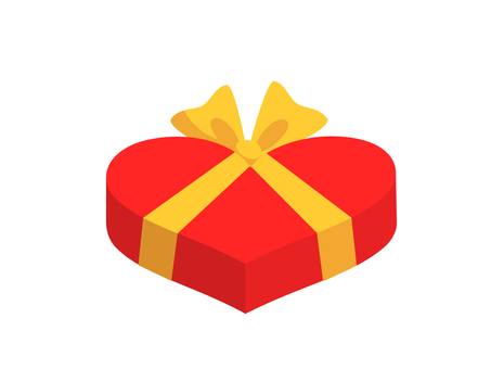 Heart-shaped gift (red)