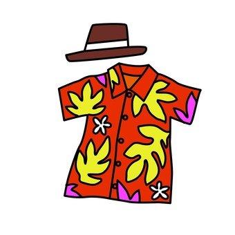 Aloha shirt and hat