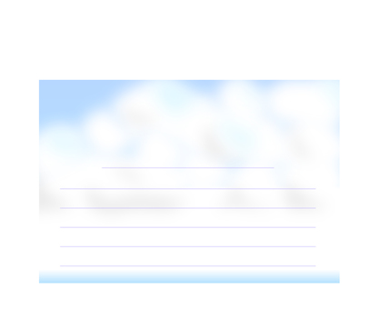 Cloud pattern horizontal postcard