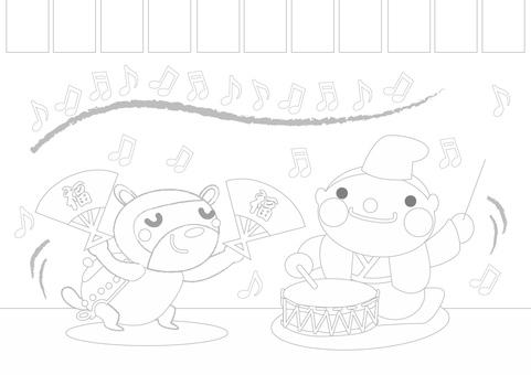 Japanese folk tale _ Bumbu tea kettle 5