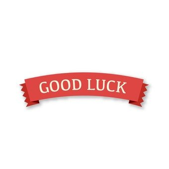 GOOD LUCK (red ribbon)
