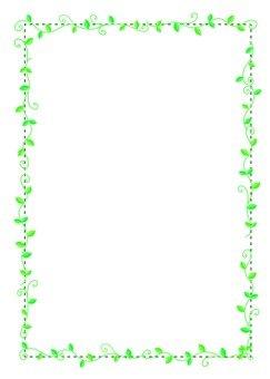 Green ivy frame