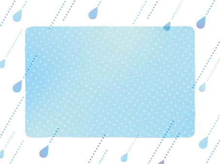 雨の日のフレーム水彩