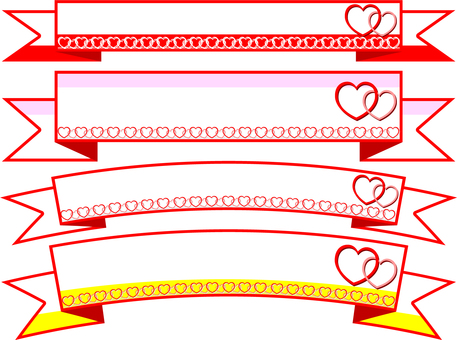 Heart ribbon frame
