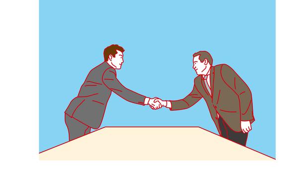 商務人士,商務洽談,握手
