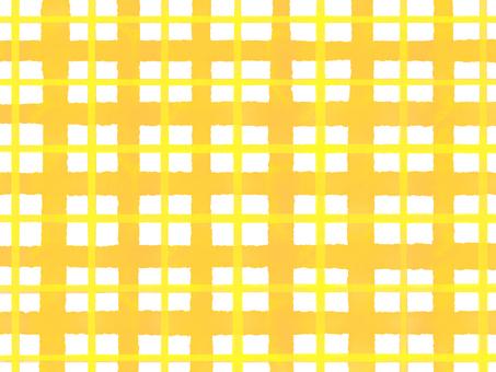 Watercolor check yellow