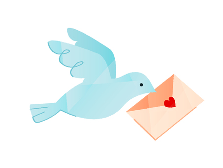 A letter and a pigeon