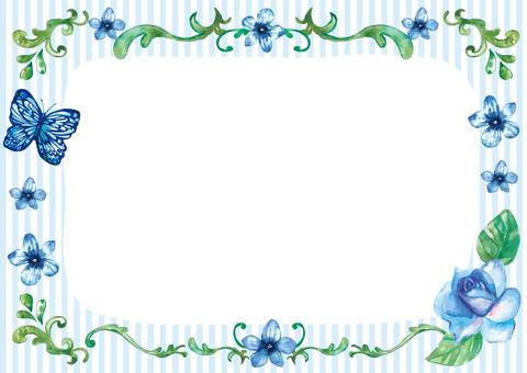 Blue Flowers card