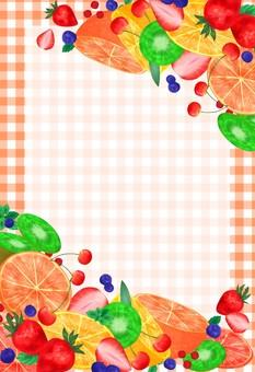 과일 프레임 오렌지
