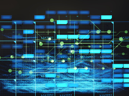 Futuristic digital world digital territory