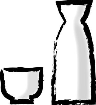 Sake bottle and bounty