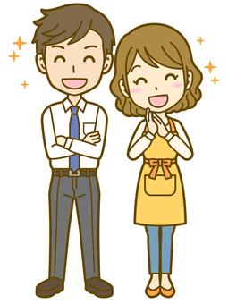 Male and female (couple): A_ pleasure 02FS