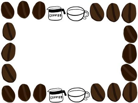 Coffee bean frame