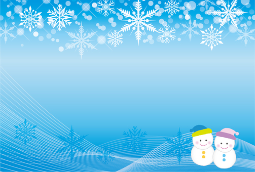 Snow Frame Background Snowman