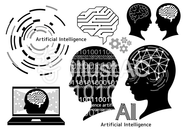 人工知能_セット01-02のイラスト