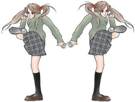 School girls to kick