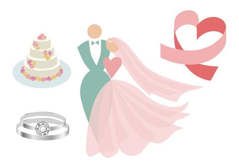 Wedding material set