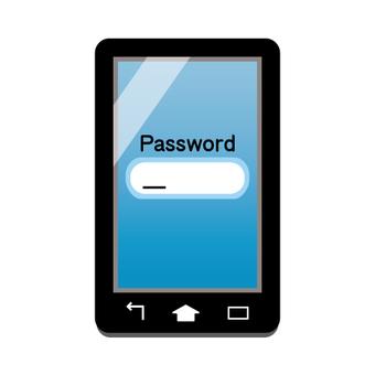 智能手機屏幕(密碼輸入圖像)