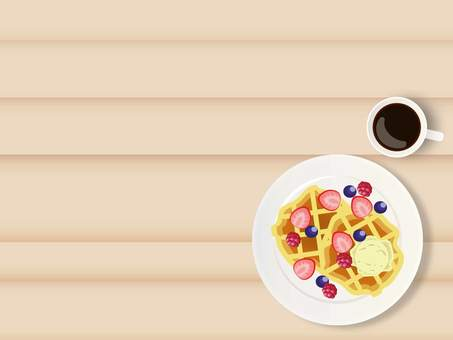 Waffle and coffee frame