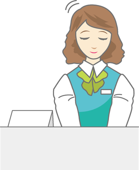 Receptionist woman 8