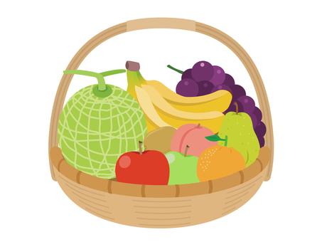 Fruit basket with fruit basket