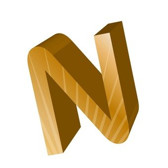 Three-dimensional English word N