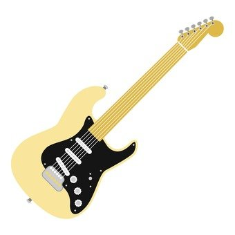 Electric guitar beige