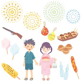 여름 축제 세트 02