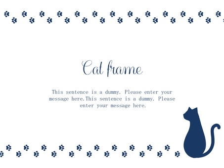 Cat Frame 02 / Blue
