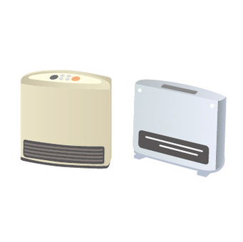 Gas fan heater