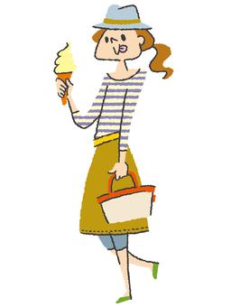 一個軟奶油的女人