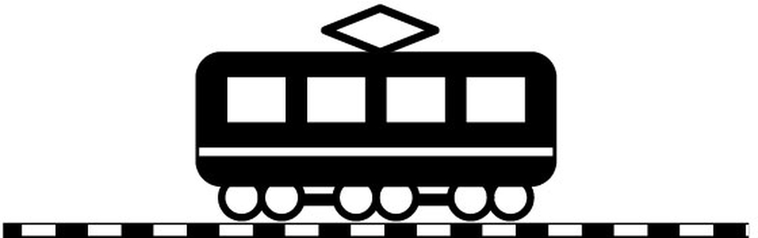 Train and track silhouette